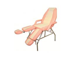 Педикюрно-косметологическое кресло СП Люкс Стандарт (каркас хром)