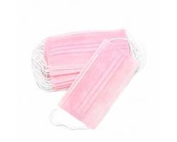 Маска медицинская 3-х слойная 50 шт розовые детская