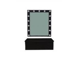 Зеркало для визажиста настенное + полка-ящик