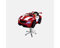 Детское парикмахерское кресло Мазерати А красное