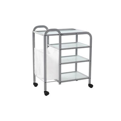 Столик косметологический (металл/стекло) - H04